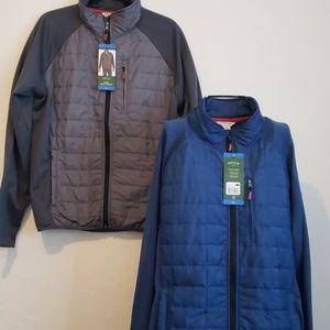 2 new ORVIS mixed media jackets